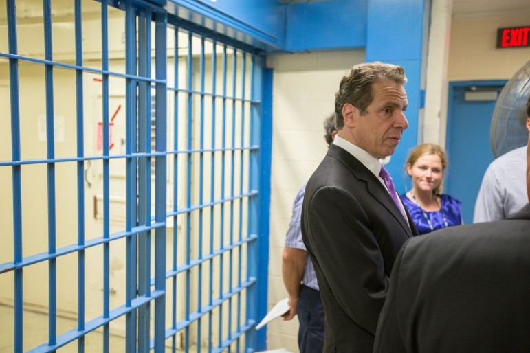 May 28, 2015-Coxsackie, NY--  Governor Andrew M. Cuomo tours the Special Housing Unit of the Greene Correctional Facility.